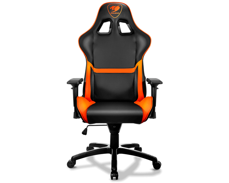 Groovy Cougar Armor Orange Gaming Chair Gaming Chairs Gaming Accessories Gaming Virgin Megastore Alphanode Cool Chair Designs And Ideas Alphanodeonline