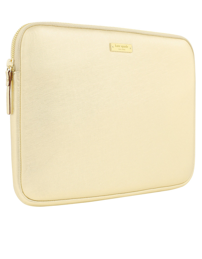more photos 5985e c9bf0 Kate Spade New York Saffiano Sleeve Metallic Gold Macbook Air/Pro 13