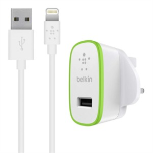 Belkin Ultra Fast 2.4A Usb Charger W/1.2M Lightning Cable