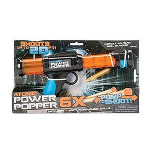 Hog Wild Atomic Power Popper with 6X Foam Ammo Balls