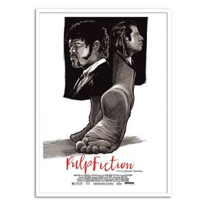 Pulp Fiction Art Poster by Joshua Budich [50 x 70 cm]