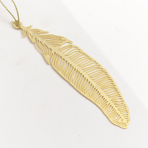 Letternote Feather 24K Gold Plated Metal Bookmark