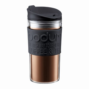 Bodum Travel Mug Double Walled Flip Black 0.35L