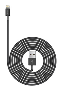 KANEX LIGHTNING TO USB CABLE 1.2M BLACK