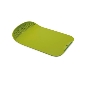 Joseph Joseph Chop & Drain Chopping Board with Integrated Colander Green