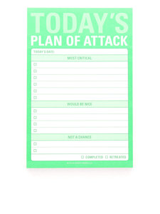 Knock Knock Great Big Stickies Today's Plan Of Attack Notebook