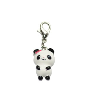 BOMBAY DUCK METAL SMILEY PANDA CHARM