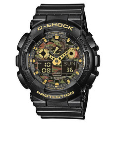 Casio Ga100Cf G-Shock Analog/Digital Watch Black/Gold