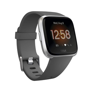 Fitbit Versa Lite Charcoal/Silver Aluminum Smart Watch