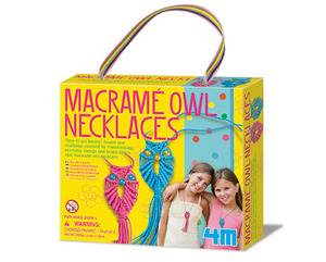 4M Macrame Owl Necklaces Girl Accessories