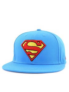 Superman Logo Flatbrim Cap Adult Medium Blue