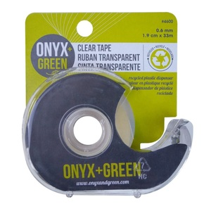 Onyx + Green Clear Tape Recycled PET
