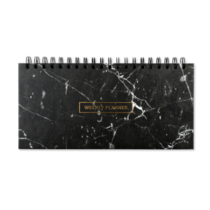 Go Stationery Marbleous Black Weekly Planner