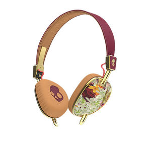 Skullcandy Knockout Floral/Burgundy/Rose Gold Mic3 Headphones