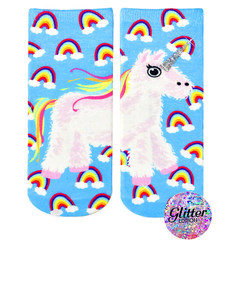 Living Royal Unicorn Pinata Unisex Ankle Socks