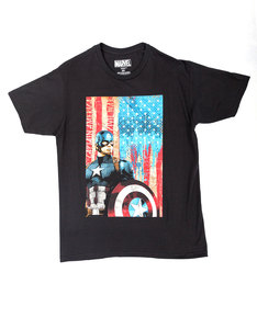 Mad Engine Civil War Patriotic Captain Black T-Shirt