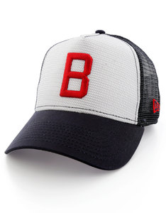 New Era Coop Mesh MLB Boston Red Sox Cooperstown White/Navy Cap