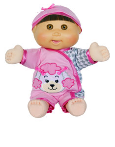 "Cabbage Patch Kids 14"" Baby So Real Brunette Doll"