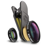 Black Eye HD Combo 2-in-1 Macro + 160 Degree Wide Lense for Smartphones