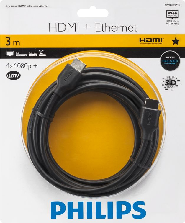 Philips 100 Series Nickle Plated Hdmi 3M