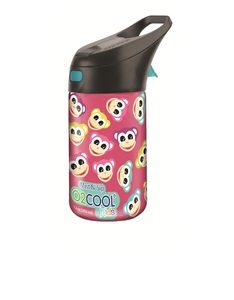O2Cool Monkey Pattern Prism Brighton Mist N Sip Top 12 Oz Water Bottle