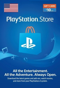 PlayStation Network Topup Wallet 10 USD