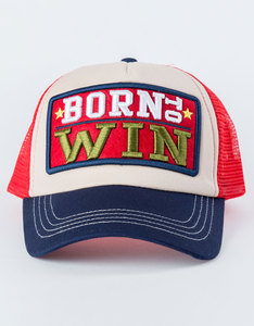 B180 Born To Win Red/Blue Unisex Cap