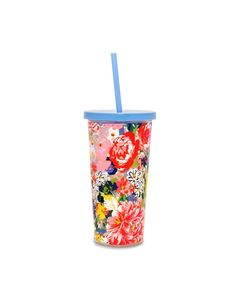 Ban.do Sip Sip Tumbler with Straw Flower Shop