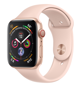 Apple Watch Series 4 GPS +Cellular 44mm Gold Aluminium Case with Pink Sand Sport Band