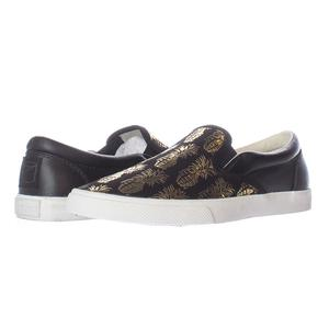 Bucketfeet Pineappleade Black/Gold Low Top Canvas Slip On Women's Shoes