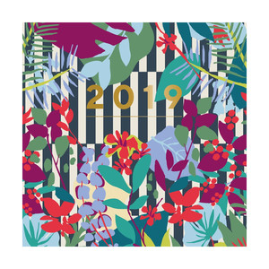 Portico Designs Patternology Square Wiro Calendar Floral Stripe