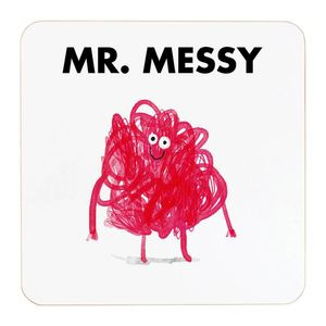 Ohh Deer Mr Messy White/Pink Coaster