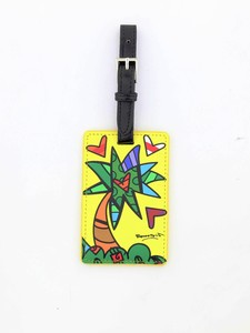 ROMERO BRITTO LUGGAGE TAG PALM TREE