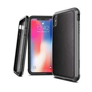 X-Doria Defense Lux Case Black Leather for iPhone XS Max