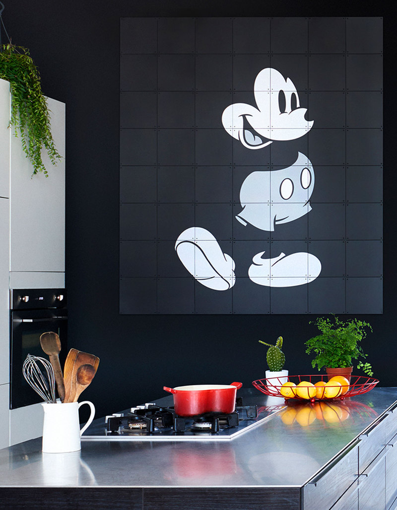 IXXI Disney Mickey Mouse Black/White Wall Decoration | Artwork and on