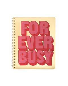 Ban.Do Rough Draft Forever Busy Large Notebook