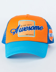 B180 Awesome3 Blue/Orange Unisex Cap