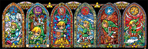 The Legend Of Zelda Stained Glass Slim Poster [30.5 x 91.5 cm]