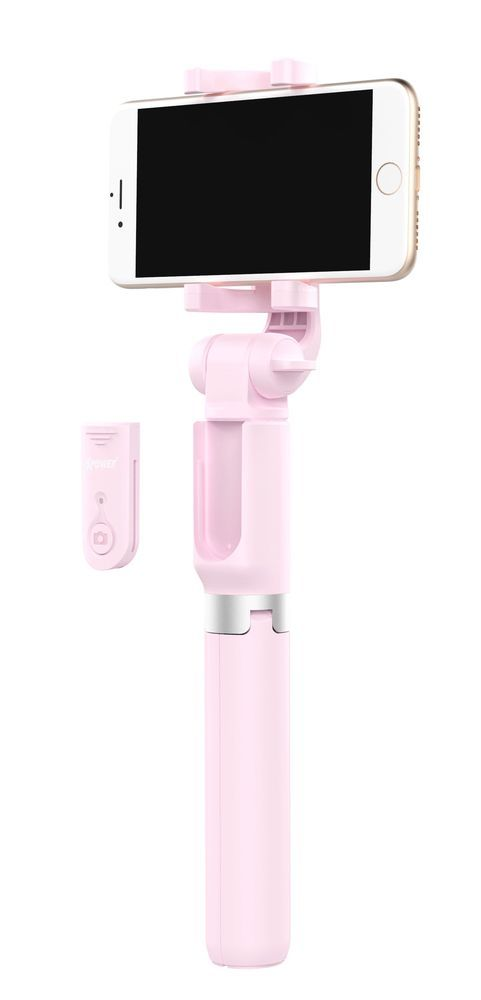 XPower W10 Pink Bluetooth Tripod Selfie Stick