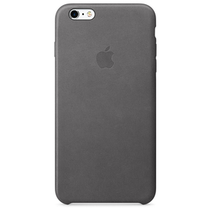Apple Leather Case Storm Grey iPhone 6/6S Plus