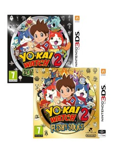Yo-Kai Watch 2 Bonsy Spirits + Yo-Kai Watch 2 Fleshy Souls [Bundle]