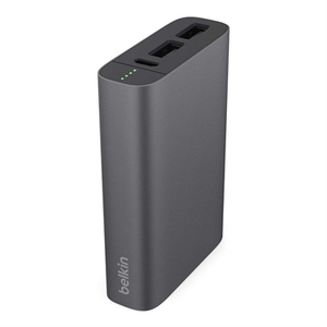 Belkin 3.4A 6000Mah Metallic Grey Power Bank With 15Cm Lightning & Micro USB Cable