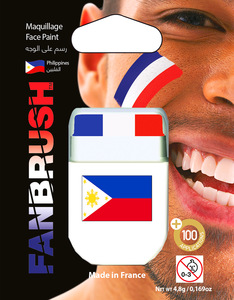 Fanbrush Philippines Flag Face Paint