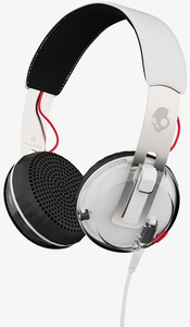 Skullcandy Grind White/Black/Red W/Mic Headphones