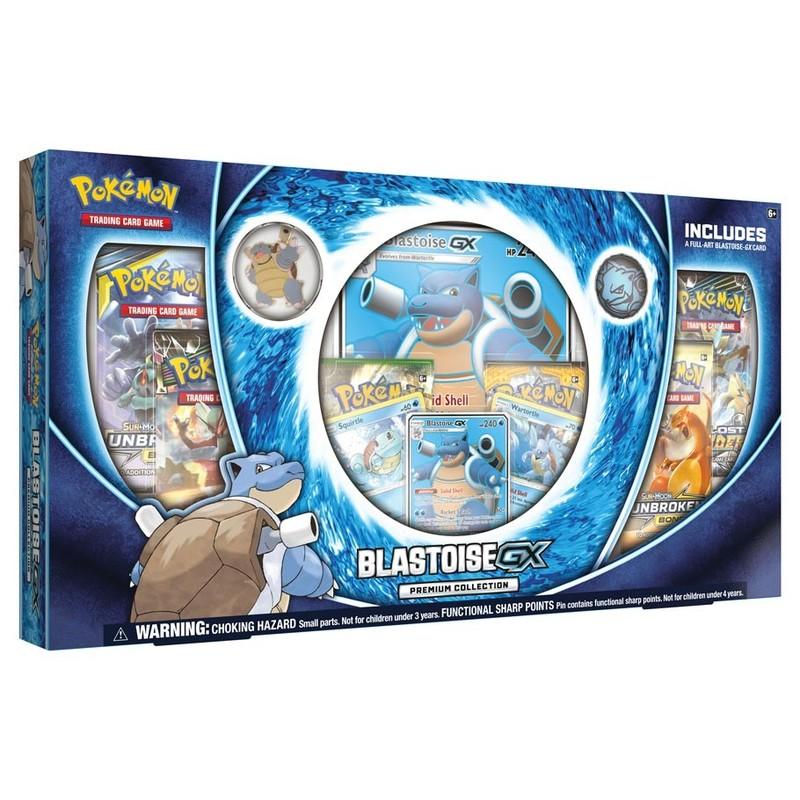 Pokemon Tcg Blastoise Gx Premium Collection Box Trading Cards Card Games Games Puzzles Toys Virgin Megastore