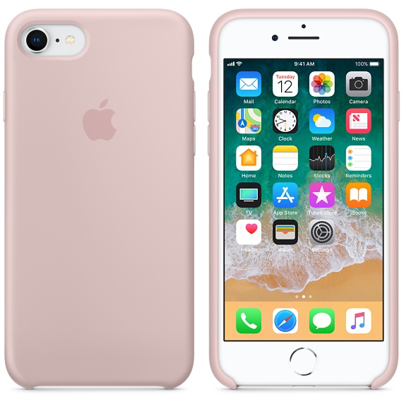 iphone 7 pink silicone case