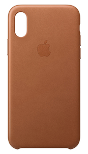 APPLE LEATHER CASE SADDLE BROWN FOR IPHONE XS