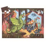 Djeco Silhouette Puzzles the Knight At the Dragon [36 Pieces]