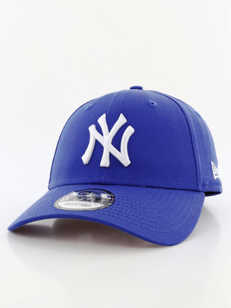 a50447263b2 New Era 9Forty League Basic NY Yankees Light Royal White Cap