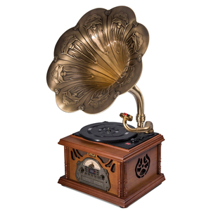 MJI Gramophone Retro Style All-in-One Vinyl/CD Player